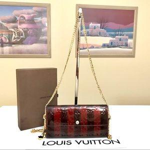 Louis Vuitton Vernis Leather Amarante Long Wallet/Crossbody Bag 💼